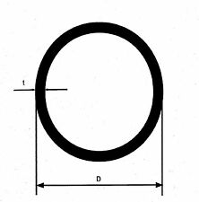 50 cm  V4A Edelstahlrohr 1.4571 Rundrohr Rohr D=14x1 mm roh Leitungsrohr