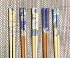 "Japanese Bamboo Chopsticks ""Space Cat"" Kawaii 5 Pairs from Japan F/S"