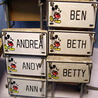 ** Vintage (NEW) - DISNEY - Door Name plate - License plate * A - C * pick ONE!
