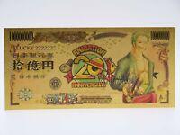 Billet Gold Manga One Piece / Roronoa Zoro / Figurine Carte Card - Stampede