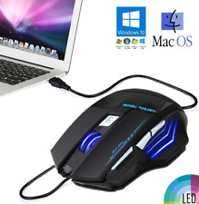 Gamer LED Wired USB Illuminated Backlit Multimedia PC 7 Buttons Pad Gaming Mouse