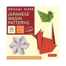 "Origami Paper - Japanese Washi Patterns - 6"" - 96 Sheets by Tuttle Publishing..."