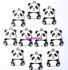 LOT 20pcs The lovely panda Metal Jack Charms Beads Pendants Party Gifts