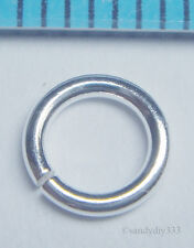 20x STERLING SILVER OPEN ROUND JUMP RING 6mm 1mm 18GA N228