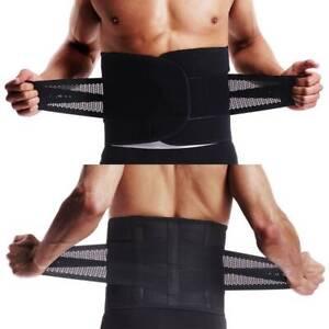 Unisex Lumbalbandage Schmerzen Rückenbandage Stützgürtel Nierengurt Schwarz CFR
