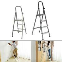 3 Step Ladder Anti-Slip Safety Rubber Mat Sturdy Durable Iron Folding Frame