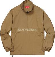 Supreme Reflective Half Zip Pullover Jacket Gold Size L SS17 New Box Logo tnf