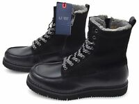 ARMANI JEANS MAN WINTER ANKLE BOOTS LEATHER SUEDE CODE 6A414