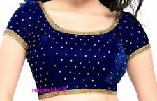 Designer Saree Blouse,Velvet Readymade Stitched Sari Blouse,Choli, Velvet Blouse