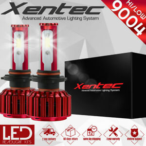 XENTEC LED HID Headlight kit 9004 HB1 White for 1989-1995 Plymouth Acclaim
