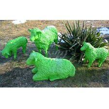 4 SCHAFE GRÜN groß & klein Deko Garten Tier Figuren BAUERNHOF EINE GANZE FAMILIE
