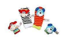 Bundle Activity Socks & Wrist Rattles Cow Dog Sozzy Soft Baby Toy FREE UK POST