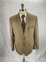 Ralph Lauren Men's Brown Silk Wool Blend Houndstooth Blazer Jacket  44R