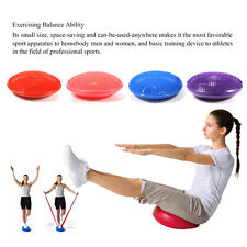 Yoga Balance Board Inflatable Gym Exercise Pad Pilates Fitness Workout Pump New