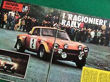 OG115 Clipping Ritaglio (Anni '70) 25x19 cm 3 pag - AUTO RALLY FIAT 124 SPORT