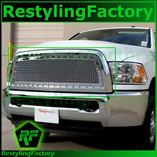 13-15 RAM Trucks 2500+3500+HD Chrome Replacement Rivet Studded+Mesh Grille+Shell