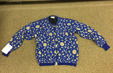 DIA NORTH OF BOSTON Vintage  Cardigan Sweater Stars Moons Fully Line Sz S NWT