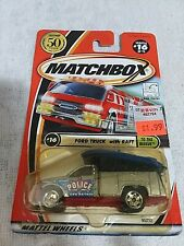 2001 Matchbox To The Rescue Series Ford Police Truck W/ Raft; #16 Of 75 Vehicles