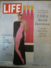 LIFE Sept 2 1966 Ardrey, Mishima, 1st ad for 1967 Camaro, FDR & Lucy Rutherford