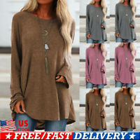Women Ladies Long Sleeve Pullover T-shirt Loose Baggy Casual Tunic Tops Jumper