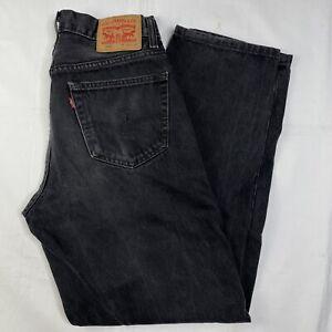Mens Levis 560 Black Comfort Fit Loose Tapered Denim Jeans 32x32