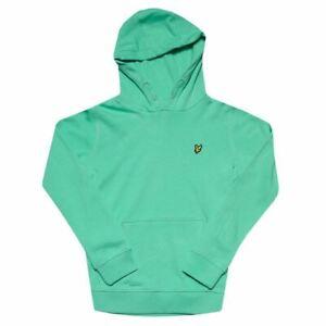Boy's Lyle And Scott Junior Classic Hoodie Sweatshirt in Green