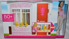 NIB-RARE-BARBIE TOTALLY REAL FOLD UP HOUSE PLAYSET & DOLL-SOUNDS- 50+ACCESSORIES