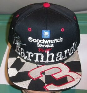 Vintage 90s Chase Authentics Dale Earnhardt Sr. 3 NASCAR Racing Snapback Hat