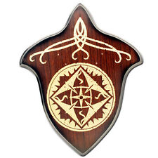 Decorative Hardwood Medieval Stained Sword Wall Wood Plaque Display
