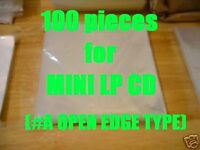 #A Open Mouth Outer Replacement Plastic Sleeves for MINI LP CDs 100 pieces