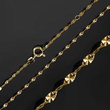 ECHT GOLD *** Collier Plättchen-Kette Fantasiekette diamantiert 42 / 45  cm