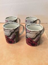 Paul Cardew Coffee Mug Set Pushing The Envelope 4 New With Tags Cups