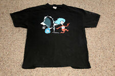 Dr. Seuss Thing1 and Thing 2  T-Shirt Men's Size Extra Large XL Black Pop Tarts