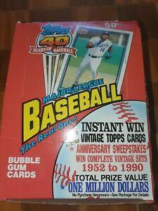 1991 Topps MLB Baseball Cards Factory Sealed Cello Box 36 Packs