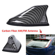 Carbon Fiber Shark Fin Car Exterior Top Roof FM/AM Radio Aerial Signal Antenna
