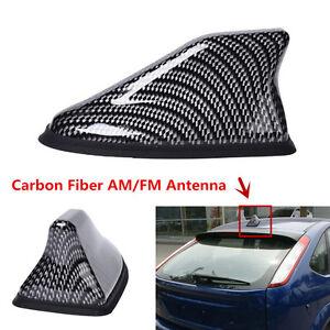 Carbon Fiber Shark Fin Car Exterior Top Roof FM/AM Radio Aerial Signal Antenna
