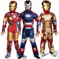 Kids boys deluxe Iron Man Cosplay Costume Fancy Party 3-10 years Outfit Dress 19
