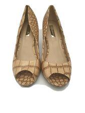 Ladies Comfortplus Heels Patterned UK Size 8/41 Peep Toe Classic Elegant Shoes