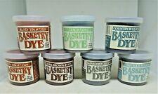 SEVEN (7) BASKETRY REED DYE  New 1.4 oz jars