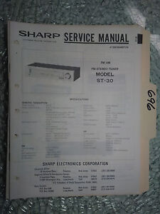 Sharp st-30 service manual original repair book stereo tuner radio