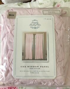 Rachel Ashwell Simply Shabby Chic Pin Tuck Smocked Window Panel Pink Voile 84""