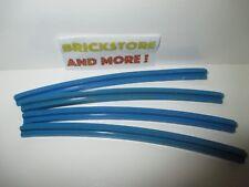 Lego - 4x Train Track Rail Curved Outside 1x16 16x1 3229 Blue/Bleu/Blau