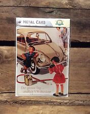 Volkswagen Beetle, METAL POSTCARD Vintage Retro Tin Signs Official Product