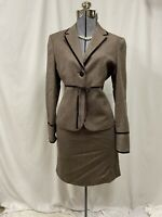 Vintage Casual Corner Tweed Jacket & Skirt Suit Set Wool Blend Ultra Feminine 6