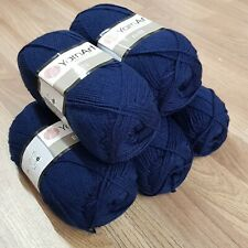 YarnArt Elite Double Knitting Yarn 5 x 100g, acrylic, navy blue 227