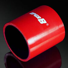 UPGR8 4-PLY 2.5'' High Performance Red Straight Coupler Silicone Hose 63MM ID RD