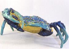 Blue Crab Trinket / Jewelry Box Pewter Bejeweled Treasures
