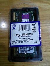 KINGSTON KAC-MEMF/2G ACER NOTEBOOK MEMORY DDR2 SoDimm 2GB 667MH Z MODULE NUOVO