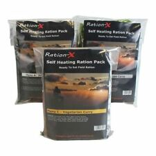 Ration X Pack of Three Self Heating MRE Field Rations