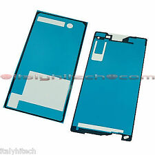 SET ADESIVI PER SONY XPERIA Z2 D6502 D6503 D6543 LCD TOUCH SCREEN E BACK COVER